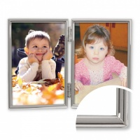 Double, Thin Edge - Silver Plated Frame 6x8 (15x20