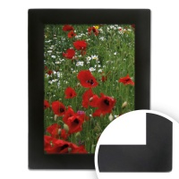 Black On Silver Curved Frame 4x6 (10x15cm) thumbnail