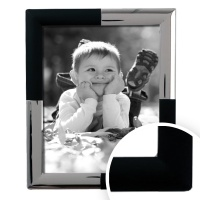 Silver & Black Line - Silver Plated Frame 8x10 (20 thumbnail