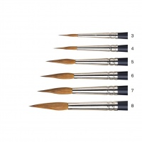 WINSOR & NEWTON - ARTISTS WATER COLOUR SABLE BRUSH - POINTED ROUND 8 thumbnail