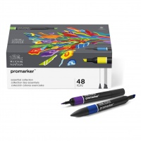 WINSOR & NEWTON - PROMARKER - ESSENTIAL COLLECTION - BOX 0F 48 thumbnail