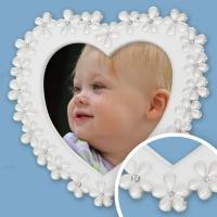 Chloe, Heart - Silver Plated Frame 4x4 (10x10cm)