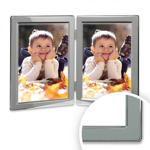 Double, Narrow Edge -  Silver Plated Frame