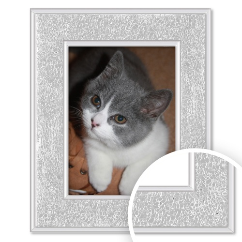 Crackled Mirror Glass Frame